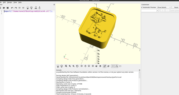 3d part design with Inkscape and Openscad part 3: working with layers