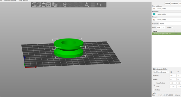 3D part design with Inkscape and Openscad part5: adding DXF rotate extrude