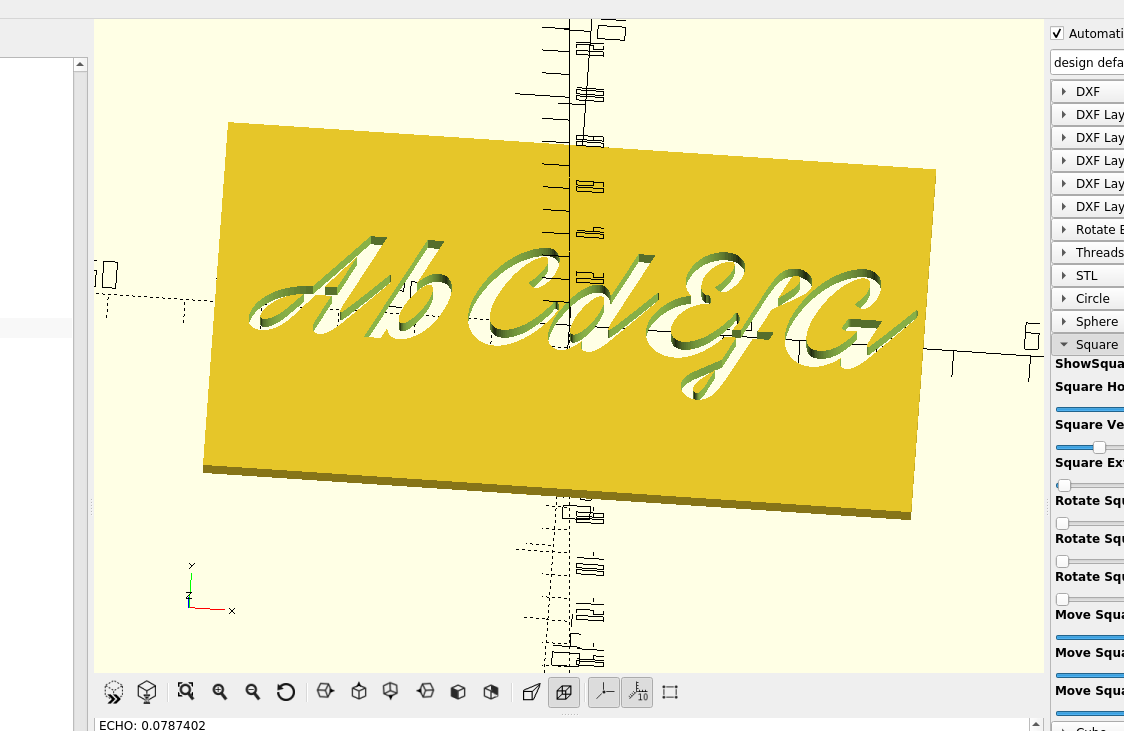 3d part design with Inkscape and Openscad part 11: Fancy Fonts