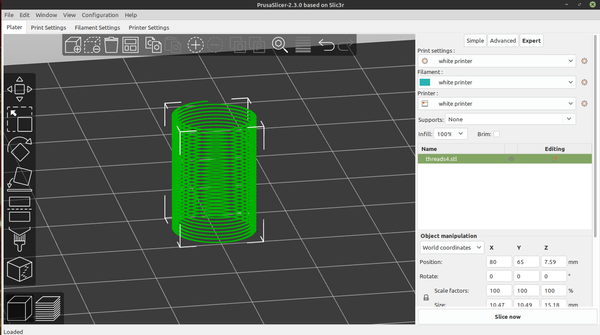 3D part design with inkscape and openscad part 9: adding a thread module