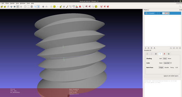 3D part design with Inkscape and openscad part 10: Thread module improvements
