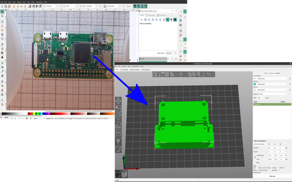 3d Part design with Inkscape and OpenScad part 14: Picture to project case