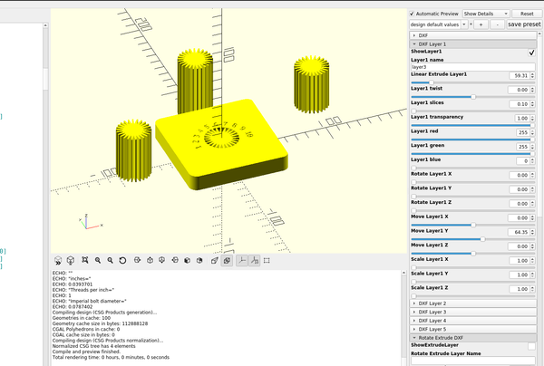 3D part design with inkscape and openscad part  12: Cloning objects